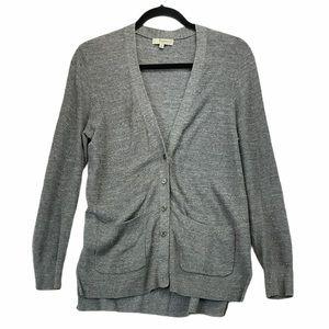 Madewell M Button Down Cardigan Grey